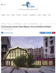 Rollet archdaily Vitruve Saint-Blaise