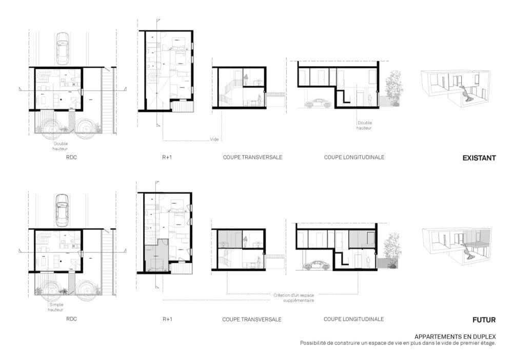 Évolutivité du logement © Agence Bruno Rollet Architecte