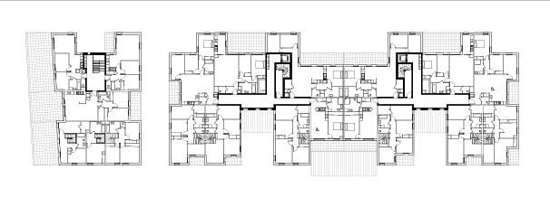 Plan étage courant © Agence Bruno Rollet Architecte