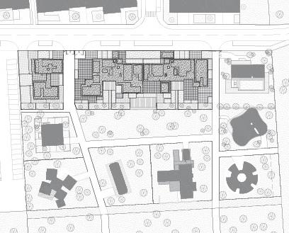 Plan masse © Agence Bruno Rollet Architecte