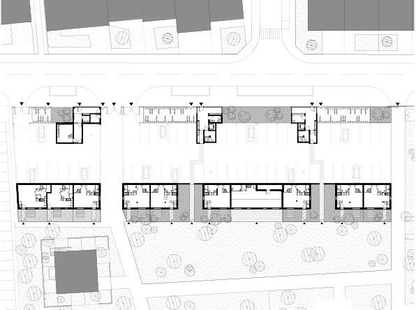 Plan de rdc © Agence Bruno Rollet Architecte